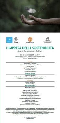 L'Impresa della sostenibilità - Benefit Corporation e Cultura